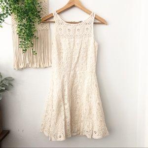 BBDAKOTA Crochet Floral Fit Flare Sleeveless Dress